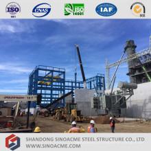 Construção industrial da estrutura alta pré-fabricada do metal da elevação