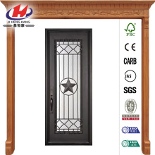 Classic Full Lite Bronze Wrought Iron Prehung Front Door