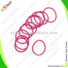 pink terylene bungee hair ties