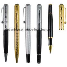 Pluma de metal pesado de plata y oro para regalos de negocios (LT-C632)