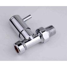 Válvula de radiador de parede de ângulo de alta qualidade cromada com melhor preço