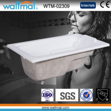 Drop in Acrylic Rectangular Bathtub with Handles (WTM-02309)