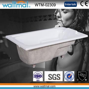 Drop in Acryl rechteckige Badewanne mit Griffen (WTM-02309)