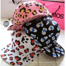 Мода Леди Леопарда Bboy Хип-Хоп Snapback Плоским Бейсболка/Кепка
