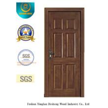 Puerta clásica de MDF a prueba de agua con madera maciza para interiores (xcl-832)