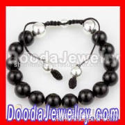 2011 Nialaya Bracelets For Man With Black Onyx And Silver Beads