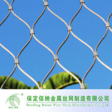 Furruled zoo aviary enclosure mesh/cable mesh for animals made by stainless steel cable