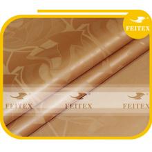Полиэстер золотой цвет жаккардовые дамасской FEITEX бубу Африканский ткань ткань базен riche