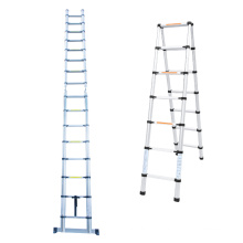 2.6m to 4.4m Aluminum Telescopic Folding Step Ladder With EN131