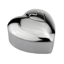 Zinc alloy heart-shaped jewelry box