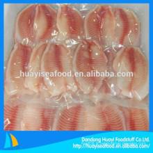 Vente de filets de tilapia fraîchement frais et fraisés bien sur le marché