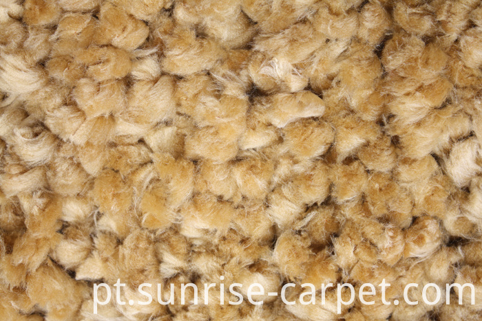 Thick Polyester Shaggy Rug Mustard Color