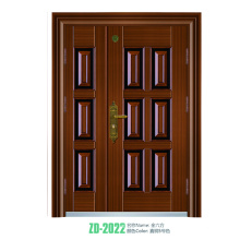 Portas de porta única porta projeto ferro forjaram ferro single