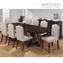 Overstuffed salon birch chaise en bois cintré couverture chaise en bois courbé