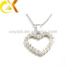 Hersteller 316L Edelstahl Schmuck Herzform Kristall Anhänger für Frauen