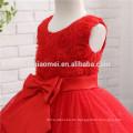 Rote Farbe scherzt Schönheitswettbewerb-Kleider für kleine Mädchen-Festzug-Kleiderblumen-Mädchen Puffy Dress