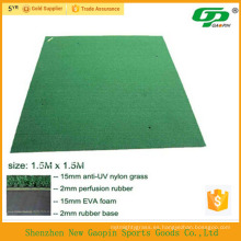 Estera giratoria de golf de hierba sintética antideslizante / esteras de golf usadas / mini golf verde