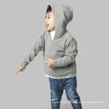 100% Kaschmir hellgrau mit Kapuze Pullover