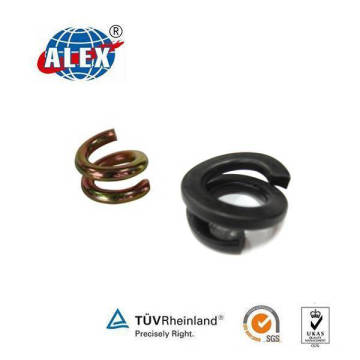 Fe6 Double Coil Spring Washer for Railway