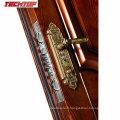 TPS-063 Morden House Conception de porte en acier avec transfert de chaleur en bois couleur