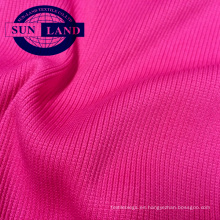 95 poliéster 5 spandex 2x2 ropa deportiva cuello usar tejido de punto acanalado