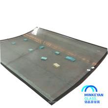 Grandes painéis 10mm dobrar vidro temperado para construção