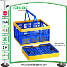 Caixas dobráveis plásticas do dever claro para o armazenamento