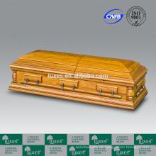 LUXES Oversize amerikanisches Beerdigung Sarg Eiche Holz-Schatullen