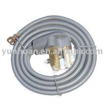Cordon de RV approbation UL CSA séchoir gamme cordon d'alimentation industrielle câble 30 a avec du fil de nema 10-30P SRDT