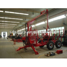 Wood Trailer ZM8006 with Crane