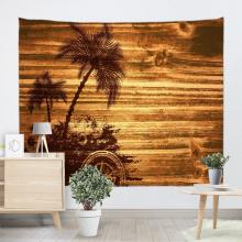 Pranchas do vintage Tapeçaria Tapeçaria Árvore de Coco Placa de Madeira Tapeçaria de parede para Sala de estar Quarto Dormitório Decoração da sua casa