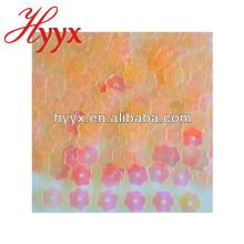 Confeti de flor transparente, flor en polvo