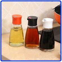 Glass Pepper Jar Sets Condiment Glass Bottle for Spice/Soy Sauce/Vinegar