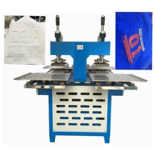 silicone trademark embossing machine onto fabrics