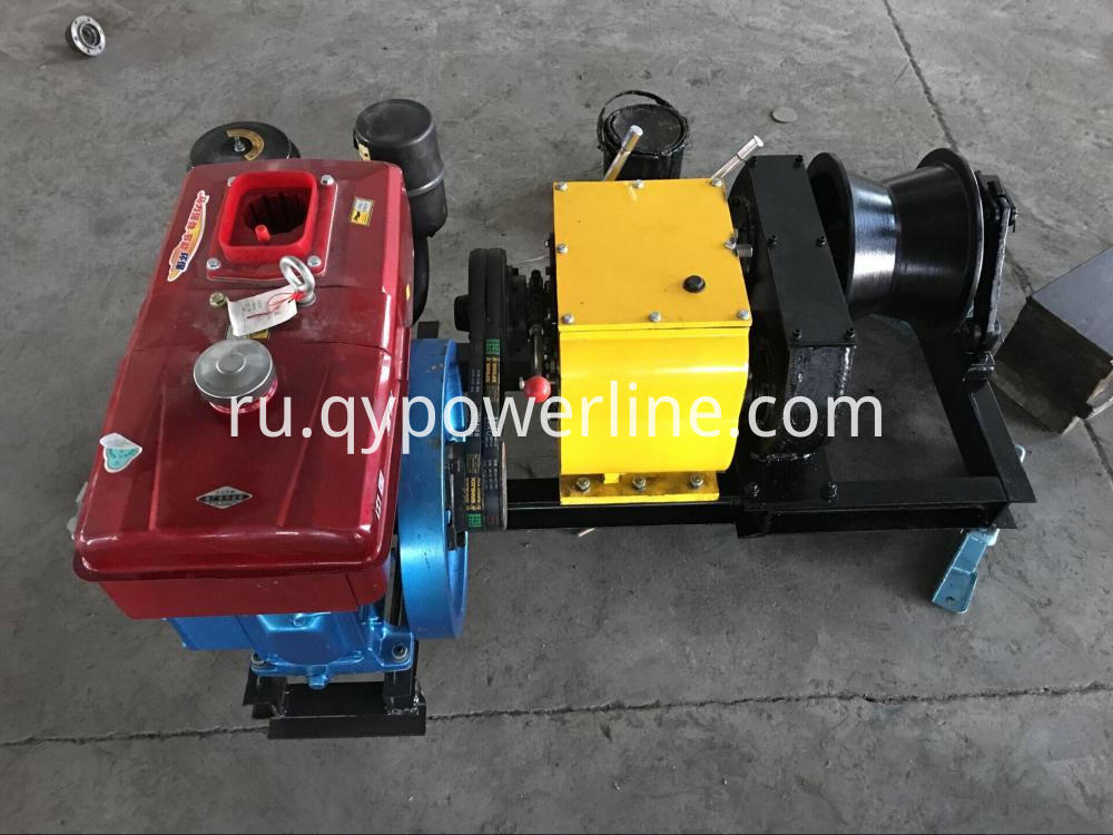 Diesel Engine Powered Cable Pulling Winch For Tower Erection