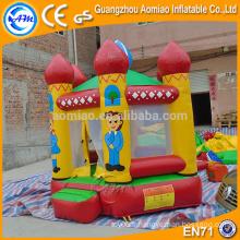 0.9mm PVC parfait design gonflable gonflable château de sauvetage, thème familial maison rebond pour enfants