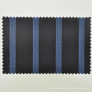 tela azul con punto de lana de china para caballero