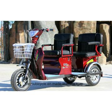 Triciclo eléctrico para adultos con pasajero / bicitaxi