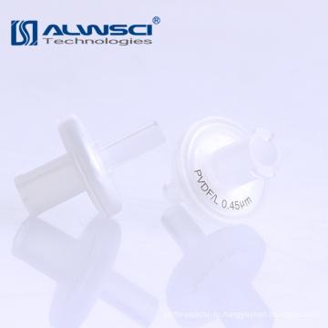 13мм 25мм ПП шприцевые фильтры гидрофильной фильтровальной бумаги 0,22 мкм поры