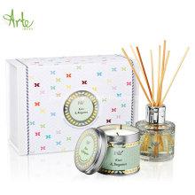 Juego de regalo de lujo Aromatherapy Tin Candle & Reed Diffuser