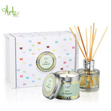 Luxury Aromatherapy Tin Candle & Reed Diffuser Gift Set