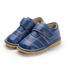 Baby Boy Navy Genuine Leather Inner Shoes 1-2-3y