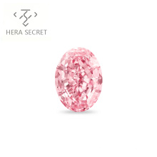 ForeverFlame  fancy pink 7ct 9mm*13mm vvs Oval Cut diamond CVD CZ Moissanite haute couture Women jewelry 18K ring Proposal ring