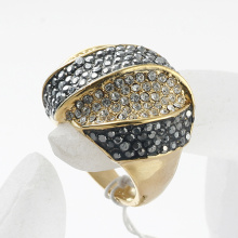 Gold color Accessories full rhinestone finger ring fashion jewelry wholesale factory