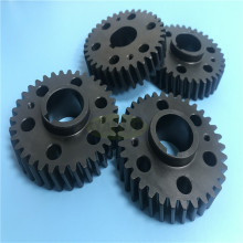 Custom blackened spur gear shaft & gear