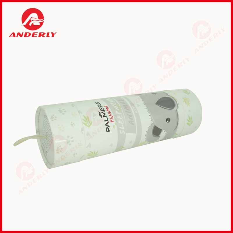 Customized Cute Sleepwear Clothes Packaging Paper Tube