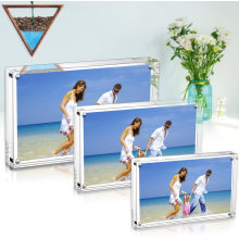 Freestanding Double Sided Frameless Photo 20mm Thickness Transparent Acrylic Magnetic Frame