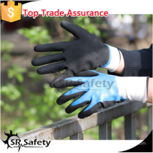 SRSAFETY sandy finish work gloves/new style/nitrile on palm gloves