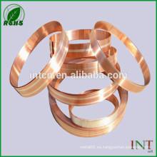 tira compuesta cobre plata contacto eléctrica