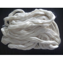raw silk fiber tops